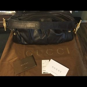 Gucci medium Hobo bag with gold hardware